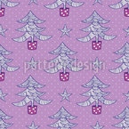 Schaukelnde Weihnachtsbäume und Sterne Nahtloses Vektormuster
