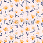Cozy Flowers Seamless Pattern