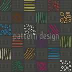 Doodle Check Seamless Vector Pattern Design