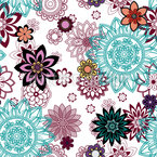 Floral Mandala Variations Seamless Vector Pattern Design