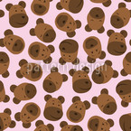 Mister Bear Pink Seamless Pattern