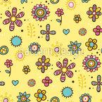 Mandala flowers Seamless Vector Pattern Design
