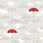 Regen und mehr Regen Nahtloses Vektormuster
