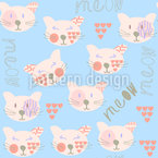 Kittycats Seamless Vector Pattern Design