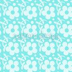 Freshly Flowers Seamless Vector Pattern Design