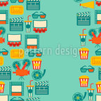 Cinema Seamless Vector Pattern Design
