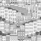 Dublin City Seamless Vector Pattern Design