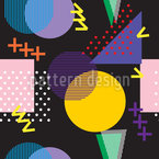 80s and 90s Seamless Vector Pattern Design