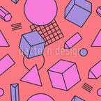 Lebendige Geometrie Nahtloses Vektormuster