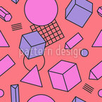 Living Geometry Seamless Vector Pattern Design