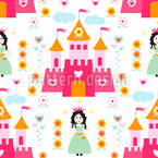 Princess Of The Castle Seamless Vector Pattern Design