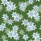 Edelweiss Green Seamless Vector Pattern Design