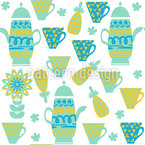 Teatime Seamless Vector Pattern