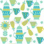 Teezeit Nahtloses Vektor Muster