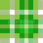 Tartan Pixels Seamless Vector Pattern Design