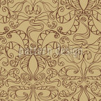 Spiritual Loops Beige Seamless Vector Pattern Design