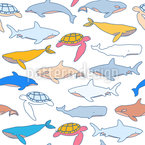 Finding Sea Animals Pattern Design