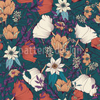 Botanical MIx Seamless Vector Pattern Design