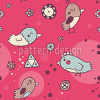 Birdie Meeting Seamless Vector Pattern Design