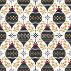 Misteln und Weihnachtskugeln Vektor Ornament