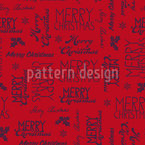 Merry Handwriting Seamless Pattern