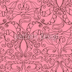Spiritual Loopies Pink Seamless Vector Pattern Design