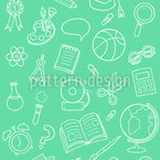 School Objects Seamless Vector Pattern Design