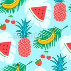 Healthy Fruits Pattern Design