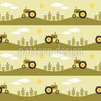 Traktor Routen Nahtloses Vektormuster