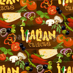 Italien Cuisine Seamless Vector Pattern Design