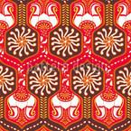 Orientalische Gänge Rot Musterdesign
