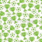 Fußball und Pokale Rapportiertes Design