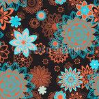 Mandala Florescimento Noturno Design de padrão vetorial sem costura