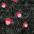 Freundliche Spinnen Nahtloses Vektormuster