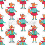 Fuchs im Winterkleid Nahtloses Muster