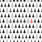 Pick A Christmas Tree Seamless Vector Pattern Design