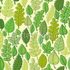Doodle Blätter Nahtloses Vektormuster