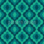 Wavy Ogee Seamless Vector Pattern Design