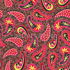 Colourful Paisley Seamless Vector Pattern Design