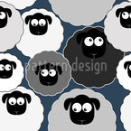 Cute Sheep Seamless Pattern