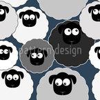 Niedliche Schafe Nahtloses Vektormuster