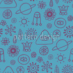Space Dreams Seamless Vector Pattern Design