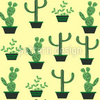 My Cacti Collection Seamless Vector Pattern Design