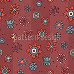 Flores Bonitas Design de padrão vetorial sem costura