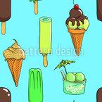 Süß Und Köstlich Nahtloses Vektormuster