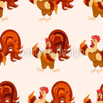 Rooster Groove Seamless Vector Pattern Design