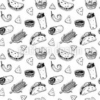 Mexican Food Repeat Pattern