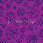Flores Doces Design de padrão vetorial sem costura