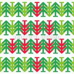 Árbol de Navidad al revés Estampado Vectorial Sin Costura