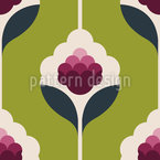 Raspberry Flowers Seamless Pattern